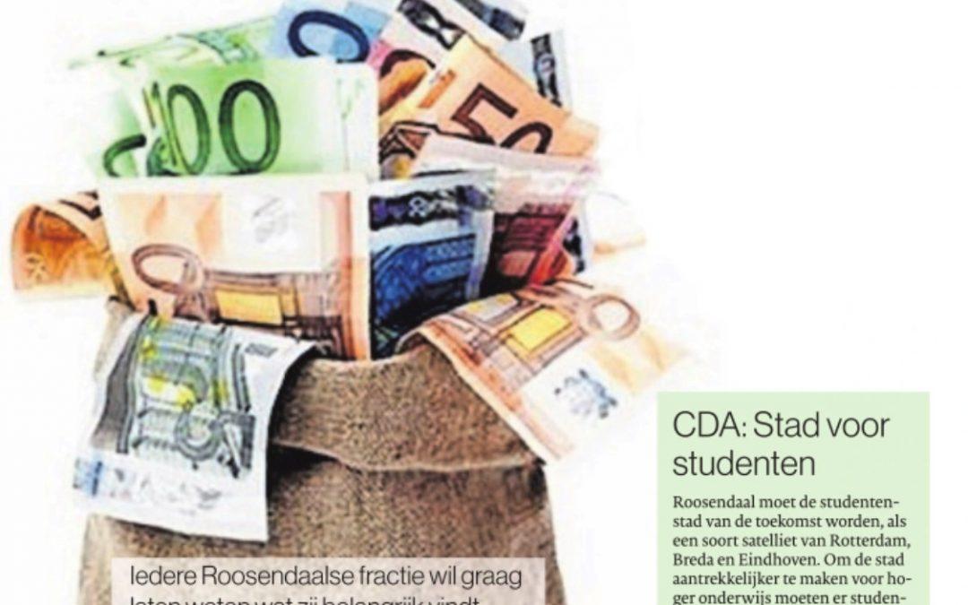 CDA inbreng Politieke Beschouwingen 31 maart 2021